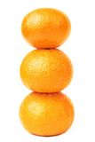 Tangerine three pyramid isolated Royalty Free Stock Photos