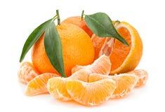 Tangerine tropical fruit on white Royalty Free Stock Photos