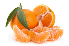 Tangerine tropical fruit on white Royalty Free Stock Image