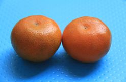 Tangerine. The orange. Fruit. Food. Tangerine. two fresh red oranges. zhaofuxin 2017.8 stock photography
