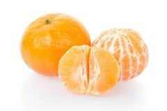 Tangerine und halbes lizenzfreie stockfotografie