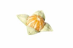 Tangerine on white background. A tangerine on white background Stock Photography