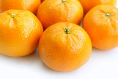 Tangerine on white background Royalty Free Stock Images