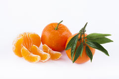 Tangerine. On a white background Royalty Free Stock Photography