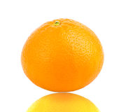 Tangerine on white background Royalty Free Stock Image