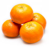 Tangerine on a white background Stock Photos