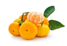 Tangerine on white background Royalty Free Stock Photo