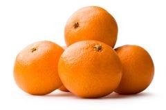Tangerine on white. Fresh orange tangerine on white background closeup Royalty Free Stock Image