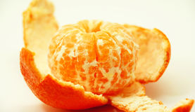 Tangerine on your skin Royalty Free Stock Photography