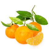 Tangerine z segmentami fotografia stock