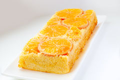 Tangerinekuchen stockbilder