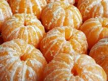 Tangerinen abgezogen stockfoto