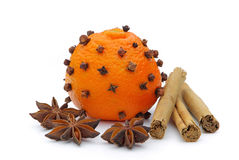 Tangerines-γαρίφαλο Στοκ Εικόνες