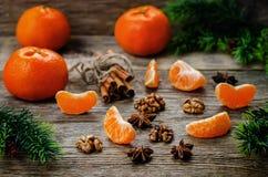 Tangerines και συστατικά για το ψήσιμο Στοκ Εικόνες