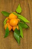 Tangerines, μανταρίνι Στοκ Φωτογραφίες