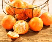 Tangerines σε ένα καλάθι Στοκ φωτογραφίες με δικαίωμα ελεύθερης χρήσης