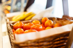 Tangerines στο ράφι υπεραγορών Στοκ φωτογραφίες με δικαίωμα ελεύθερης χρήσης