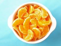 tangerines φετών Στοκ Εικόνες