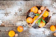 Tangerines Χριστουγέννων ρωσικές διακοπές παράδοσης Στοκ Εικόνες