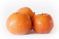 Tangerines в белизне Стоковая Фотография RF
