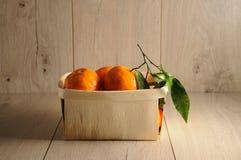 Tangerines в коробке Стоковая Фотография RF