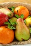 tangerines груш свежих фруктов яблок Стоковая Фотография