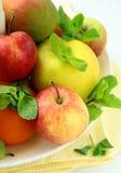 tangerines груш свежих фруктов яблок Стоковое Изображение