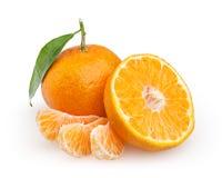 Tangerines изолированные на белизне Стоковое Изображение