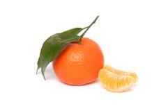 Tangerines изолированные на белой предпосылке Стоковое Изображение RF