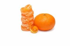tangerines макроса изоляции dof отмелые белые Стоковые Изображения