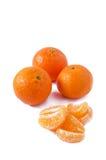 Tangerines на белой предпосылке Стоковые Изображения RF
