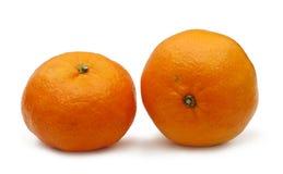 2 tangerines на белой предпосылке Стоковое Изображение