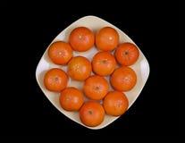 Tangerines на плите Стоковые Фото