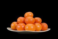 Tangerines на плите Стоковое Изображение RF