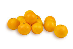 Tangerines. Some tangerines on a white background Stock Photos