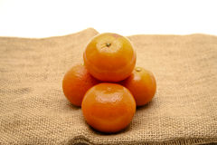 Tangerines. Refine tangerines for the health Royalty Free Stock Photos