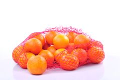Tangerines in bag Royalty Free Stock Photography