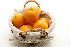 Tangerines in the basket Royalty Free Stock Photo