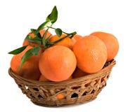 Tangerines in basket Royalty Free Stock Image