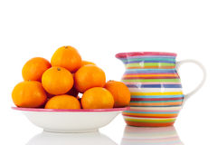 Tangerines on bowl Royalty Free Stock Photos