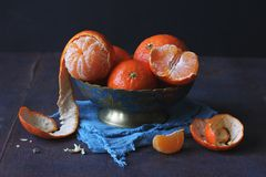 Tangerines in a bowl royalty free stock photo