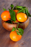 Tangerines in a bowl Stock Images