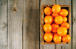 Tangerines in a box Royalty Free Stock Images