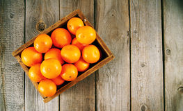 Tangerines in a box Royalty Free Stock Photography