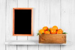 Tangerines in a box Royalty Free Stock Image
