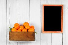 Tangerines in a box Royalty Free Stock Photo