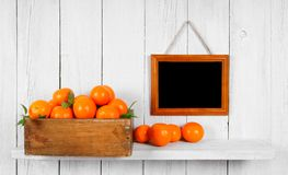Tangerines in a box Stock Image