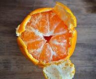 Tangerines bright orange snow Stock Image