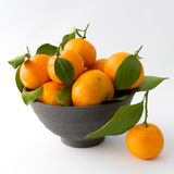 Tangerines in a Clay Bowl Royalty Free Stock Images