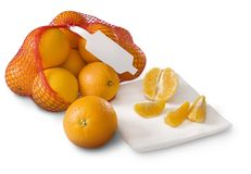 Tangerines, clementines on white Stock Image